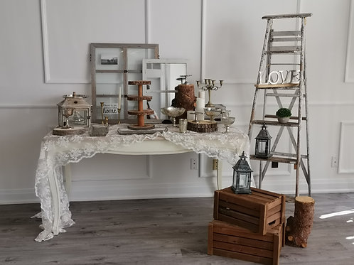 Rustic Receiving Table  Set