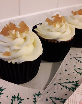 White Chocolate, Rhubarb and Ginger Cupcakes