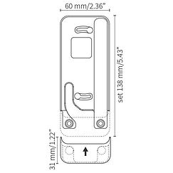 iPad docking Eve touch for iPod touch-5&6 fra Basalte