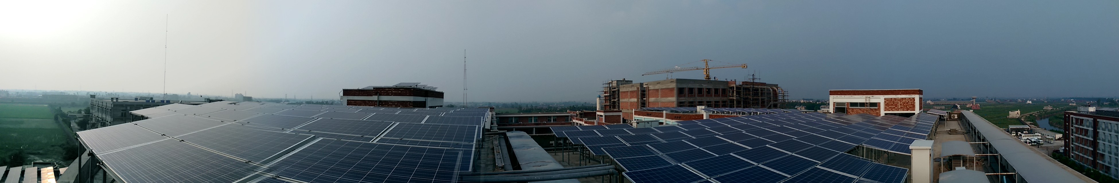 Panoramic view of PV Array