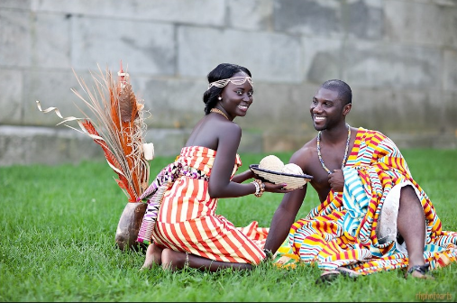 Traditional wedding dress from Ghana