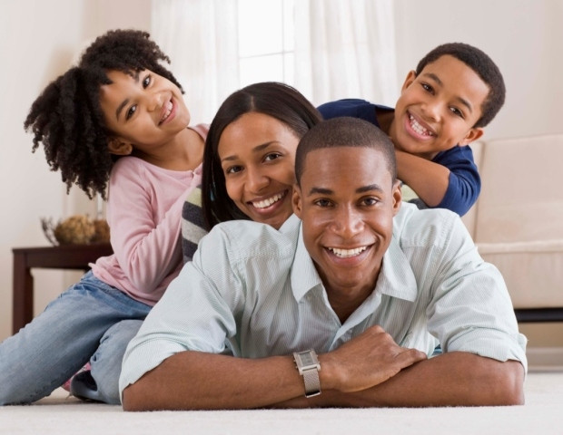 African middle class family
