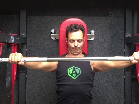 How do you grip the bar for your bench press?