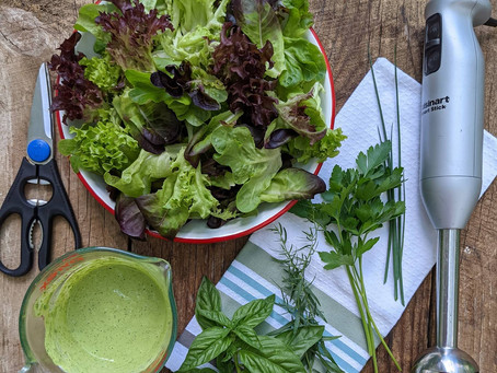 From Market to Plate:  Fran's Green Goddess Dressing