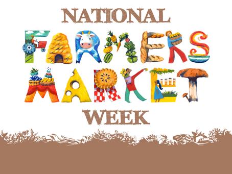 August 6-12 National Farmers Market Week