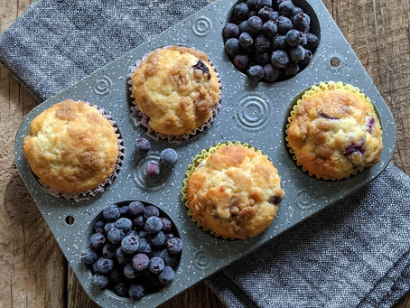 From Market to Plate:  Ray's Saskatoon Berry Muffins
