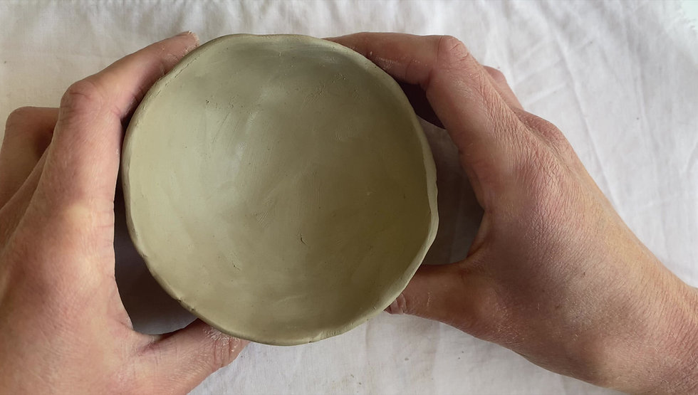 How to fix pinch pot bases that are too thick.