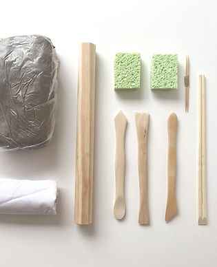 Studio white clay pack contents