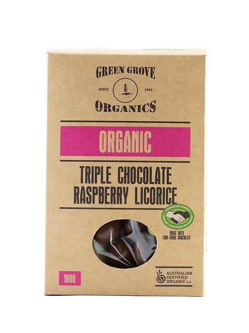 Triple Chocolate Coated Raspberry Licorice