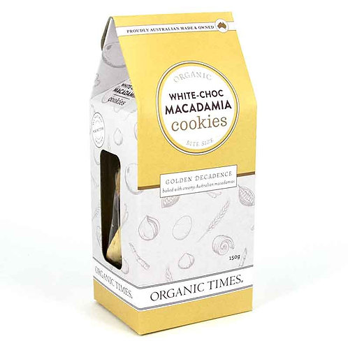 White Choc Macadamias Cookies