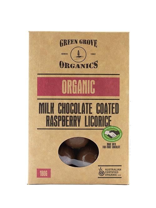 Milk Chocolate Raspberry Licorice