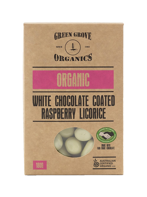 White Chocolate Coated Raspberry Licorice