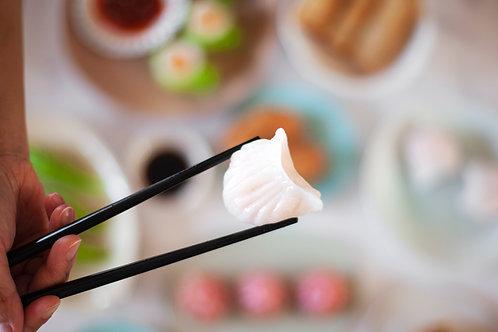 Prawn and Bamboo Har Gau (4 Pieces)    竹笋鲜虾饺