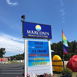 Marconi's Beach Outfitters Sign Wellfleet