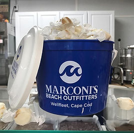 Famous Marconi's Beach Outfitters Taffy Bucket