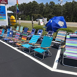 Chair Display Marconi's Beach Outfitters Wellfleet