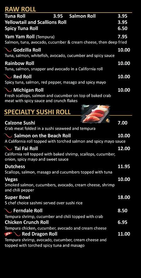 Tai Fai Raw Roll Specialty Sushi 2021.jp