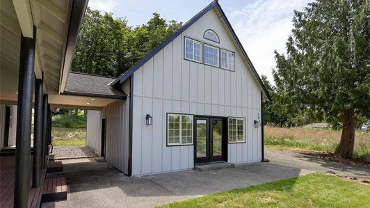 Two-car Garage and functional space.