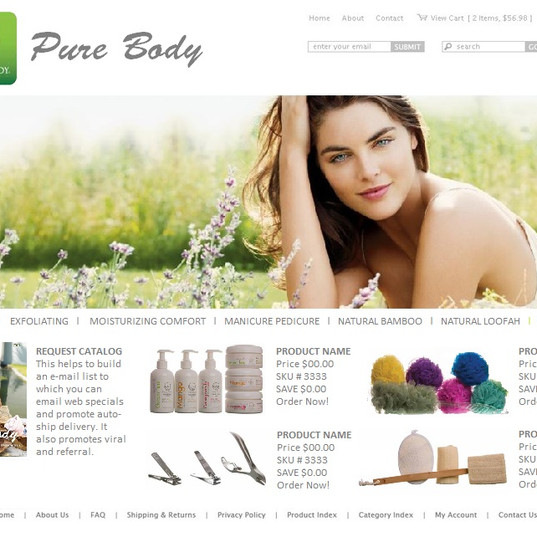 Purebody Life Web Site