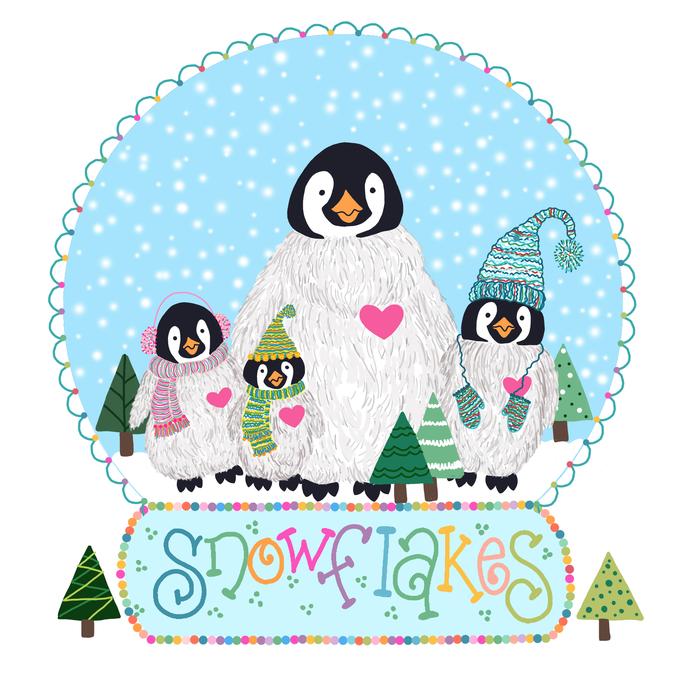 penguin snowglobe by janet nimiroski