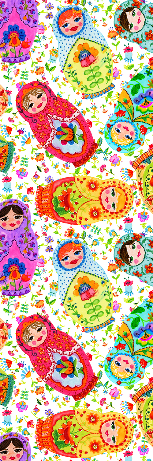Matryoshka Dolls tall pin
