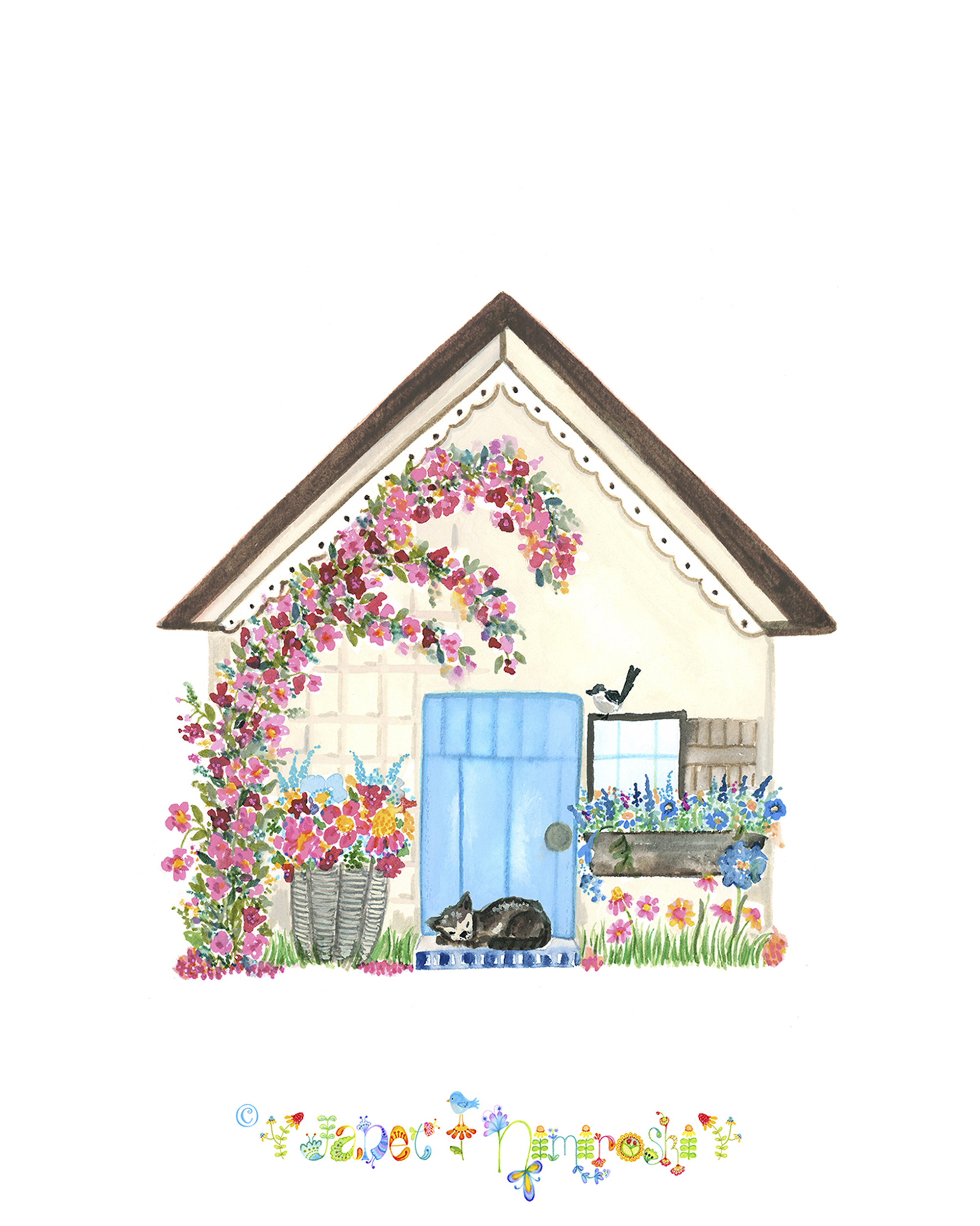 house with cat