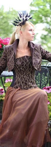 Swarovski Cobweb Corset & Chiffon Skirt