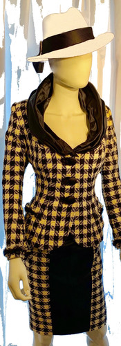 Navy & Cream Tweed