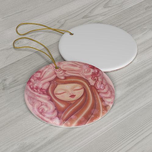 Pink Kodama Ceramic Ornament