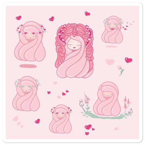 Hearts Kiss-cut Vinyl Sticker Sheet