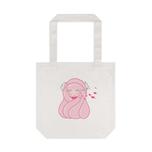 Flying Hearts 100% Cotton Tote Bag