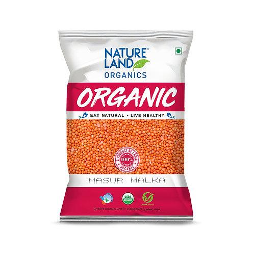 Masoor Malka Dal - Natureland Organics - 500 gm