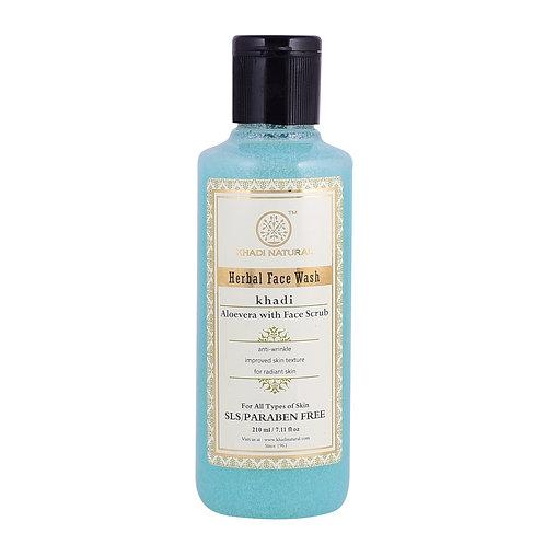 Aloevera With Scrub Face Wash Sls & Paraben Free - Khadi Natural - 210 ml