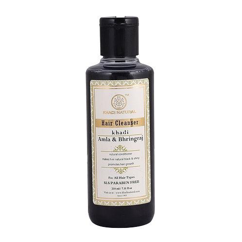 Amla & Bhringraj Hair Cleanser Sls & Paraben Free - Khadi Natural - 210 ml