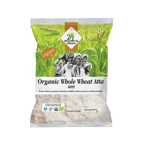 Premium Wholewheat Flour (Atta) - 24 Mantra Organic - 1 kg