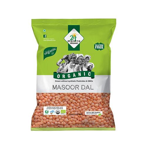 Masoor Dal - 24 Mantra Organic - 500 gm