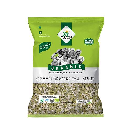 Moong Dal Split Green - 24 Mantra Organic - 500 gm
