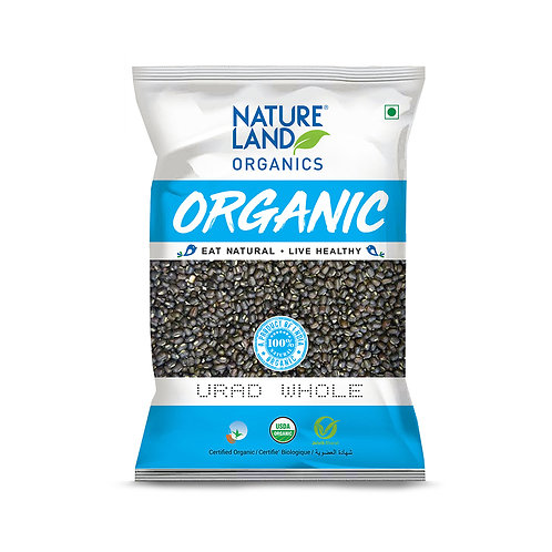 Urad Dal Whole - Natureland Organics - 500 gm