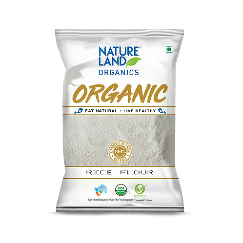 Rice Flour (Atta) - Natureland Organics - 500 gm