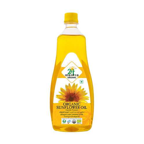 Sunflower Oil Cold Pressed - 24 Mantra Organic - 1 L