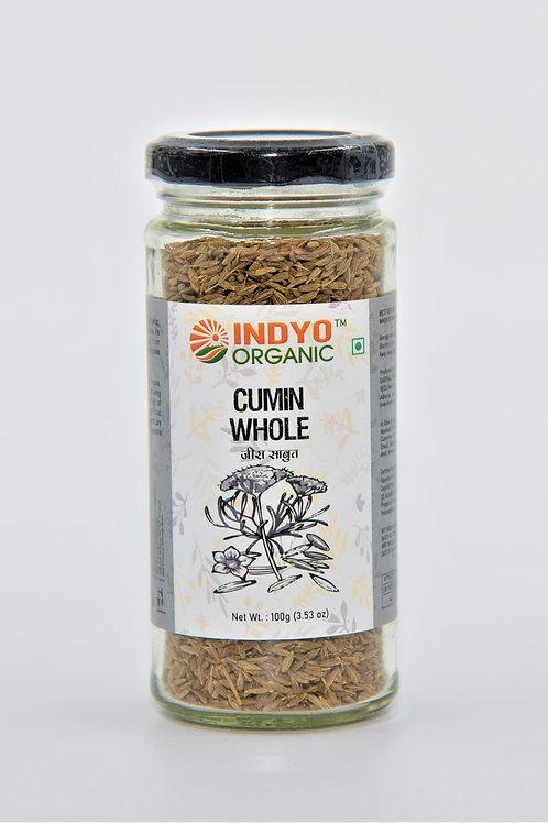 Cumin (Jeera) Whole - Indyo Organic - 100 gm