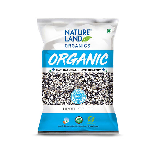 Urad Dal Split - Natureland Organics - 500 gm