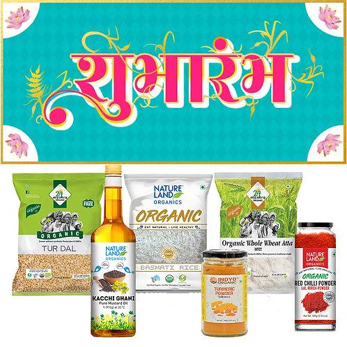 Shubhaarambh Pack (Pack of 6 Essential Food Products)