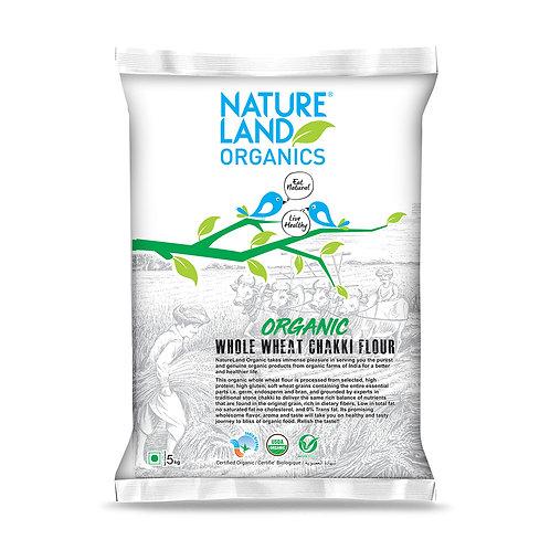 Whole Wheat Flour (Atta) - Natureland Organics - 5 kg