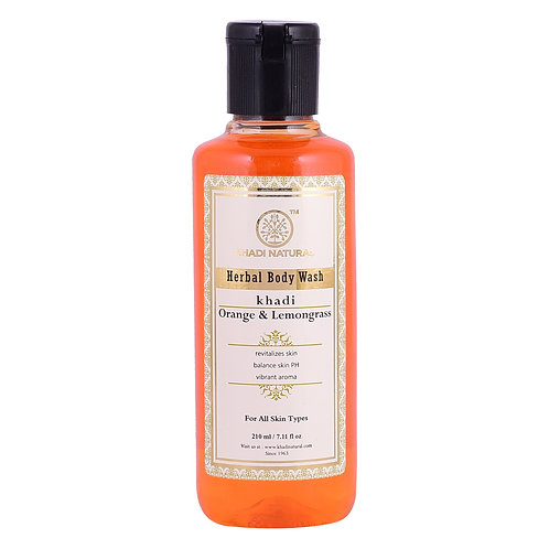 Orange & Lemongrass Body Wash - Khadi Natural - 210 ml