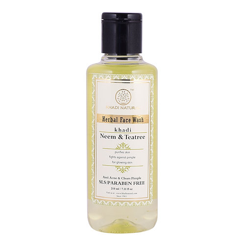 Neem & Teatree Face Wash Sls & Paraben Free - Khadi Natural - 210 ml