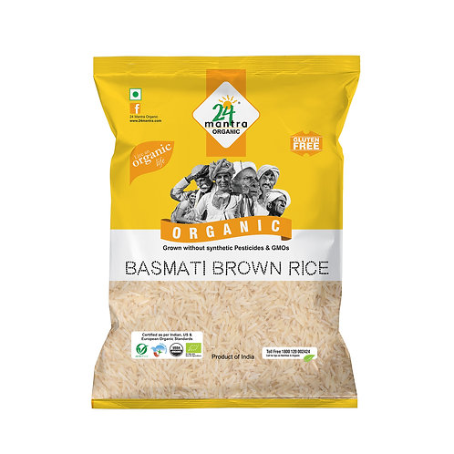 Basmati Rice Brown Premium - 24 Mantra Organic - 1 kg