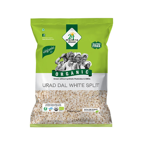 Urad Dal Split White - 24 Mantra Organic - 500 gm