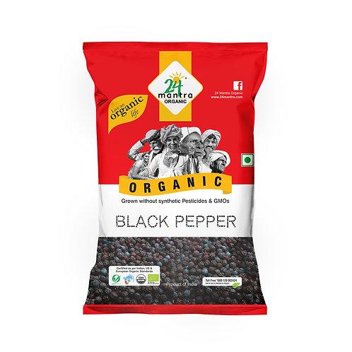 Black Pepper (Kali Mirch) Whole - 24 Mantra Organic - 100 gm