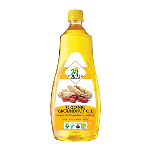 Groundnut Oil Cold Pressed - 24 Mantra Organic - 1 L